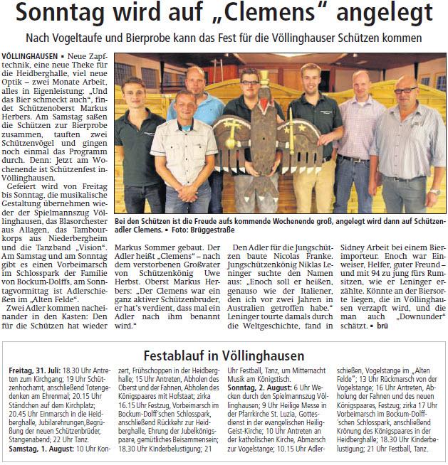 Artikel Soester Anzeiger 28.Jul.2015