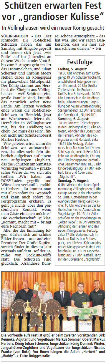 Artikel aus dem Soester Anzeiger vom  3.Aug.2016